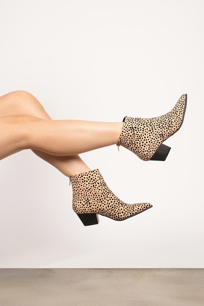 Regan Leopard Zippered Pointed Block