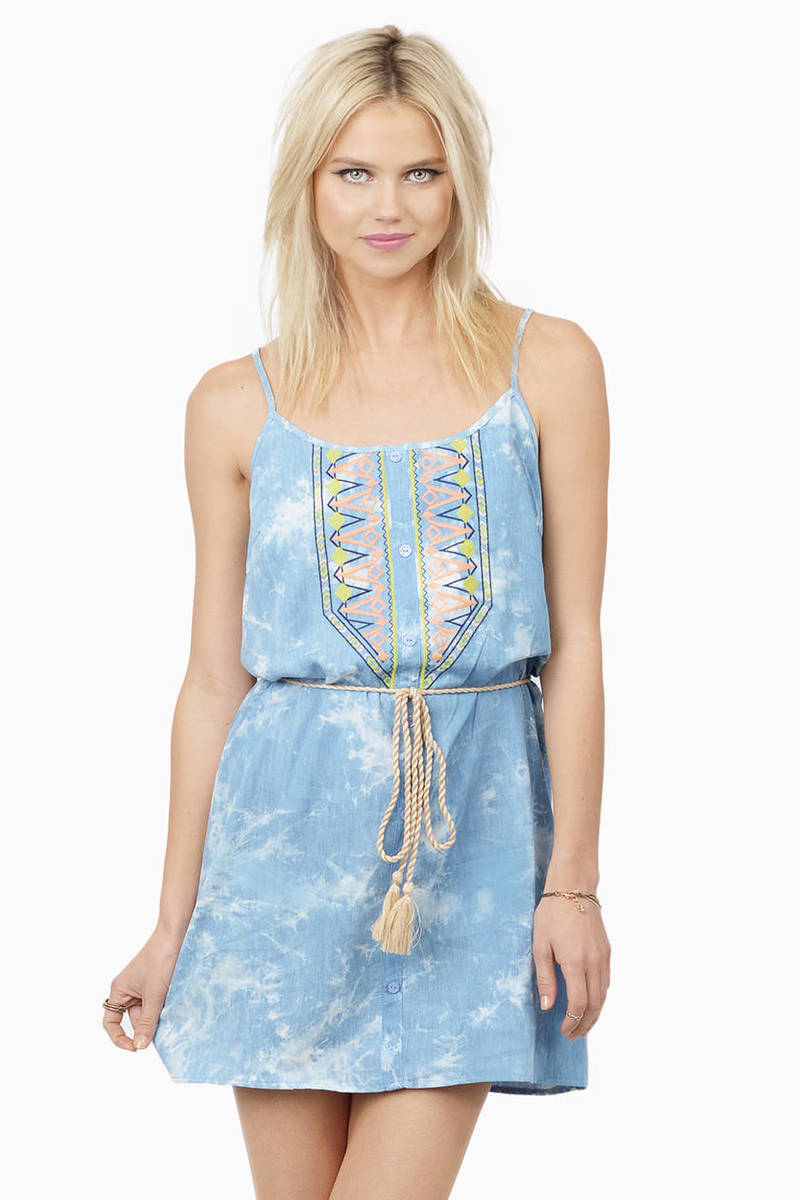 Days Like This Light Blue Shift Dress