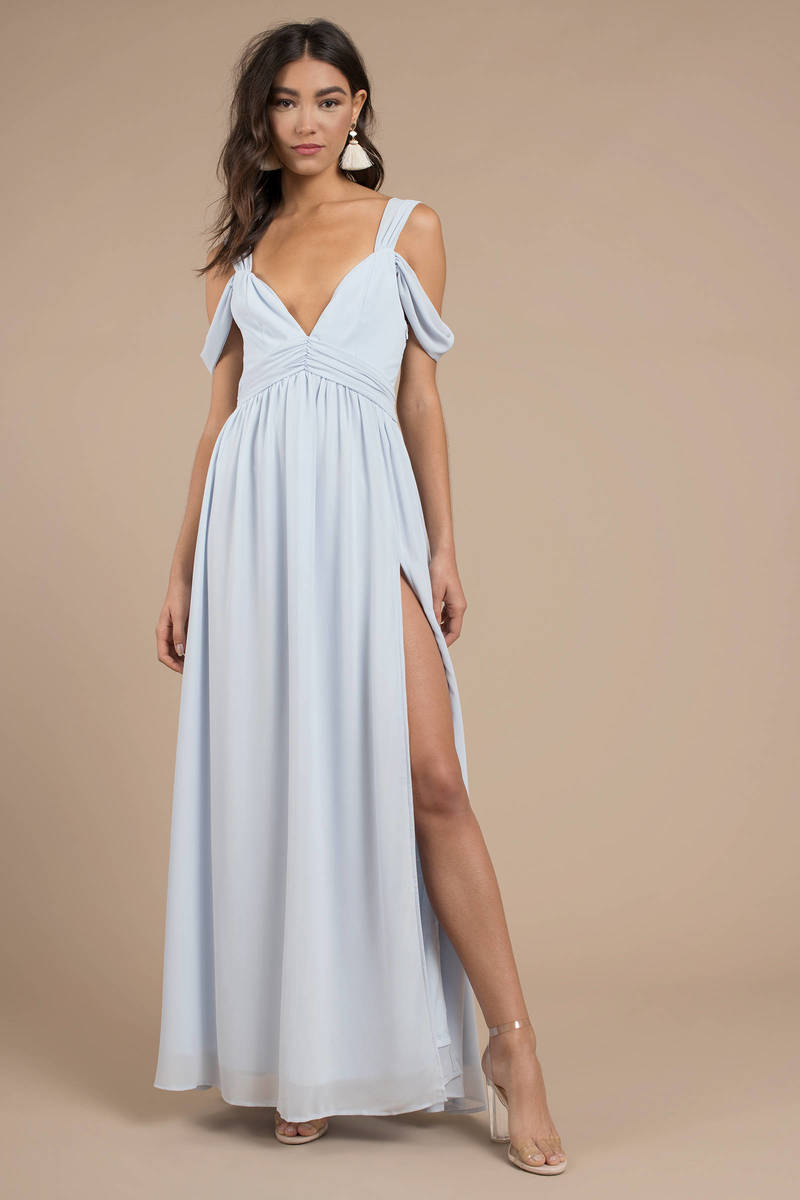 Eternal Flame Light Blue Maxi Dress 163 117 Tobi Gb