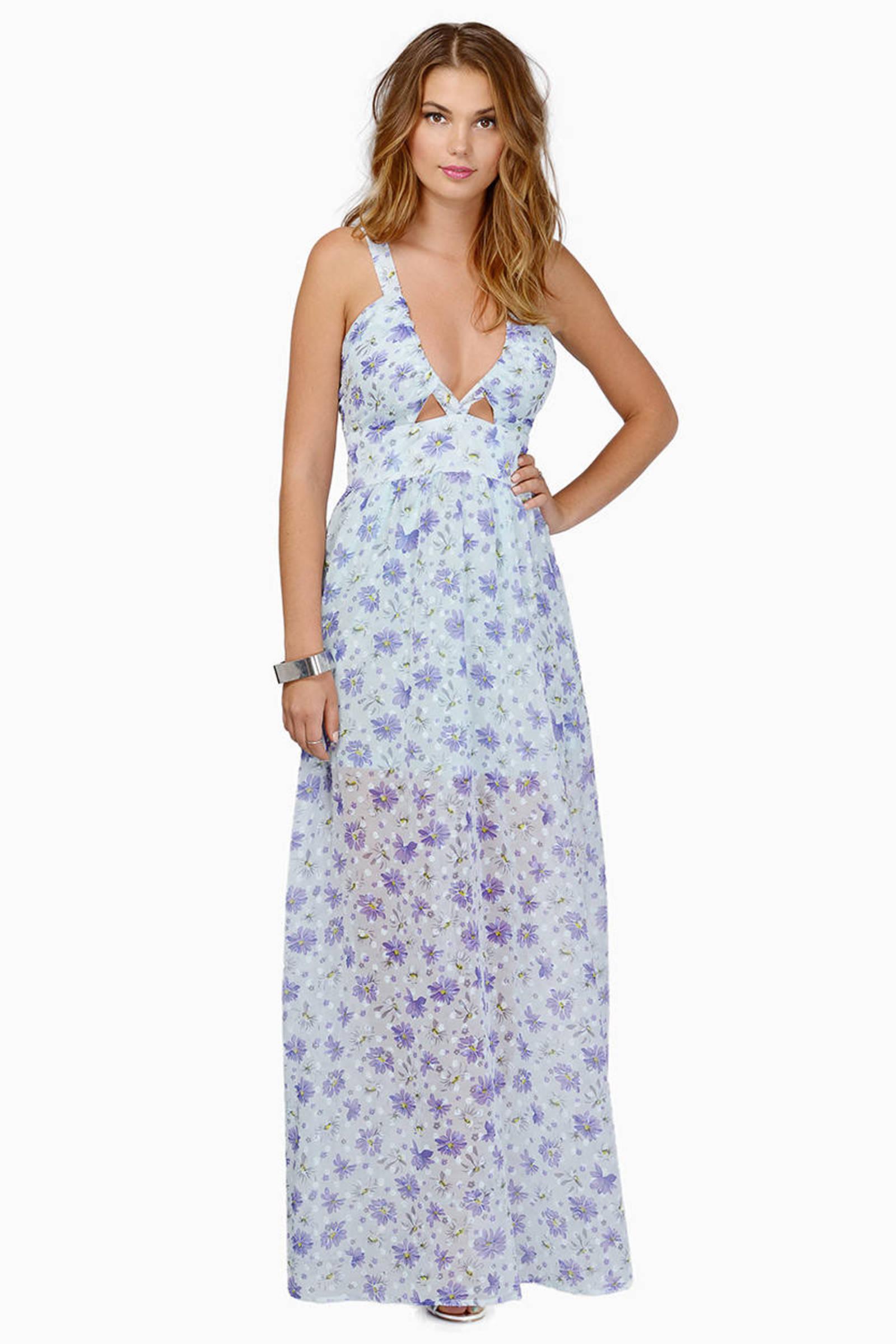 flower power long dresses