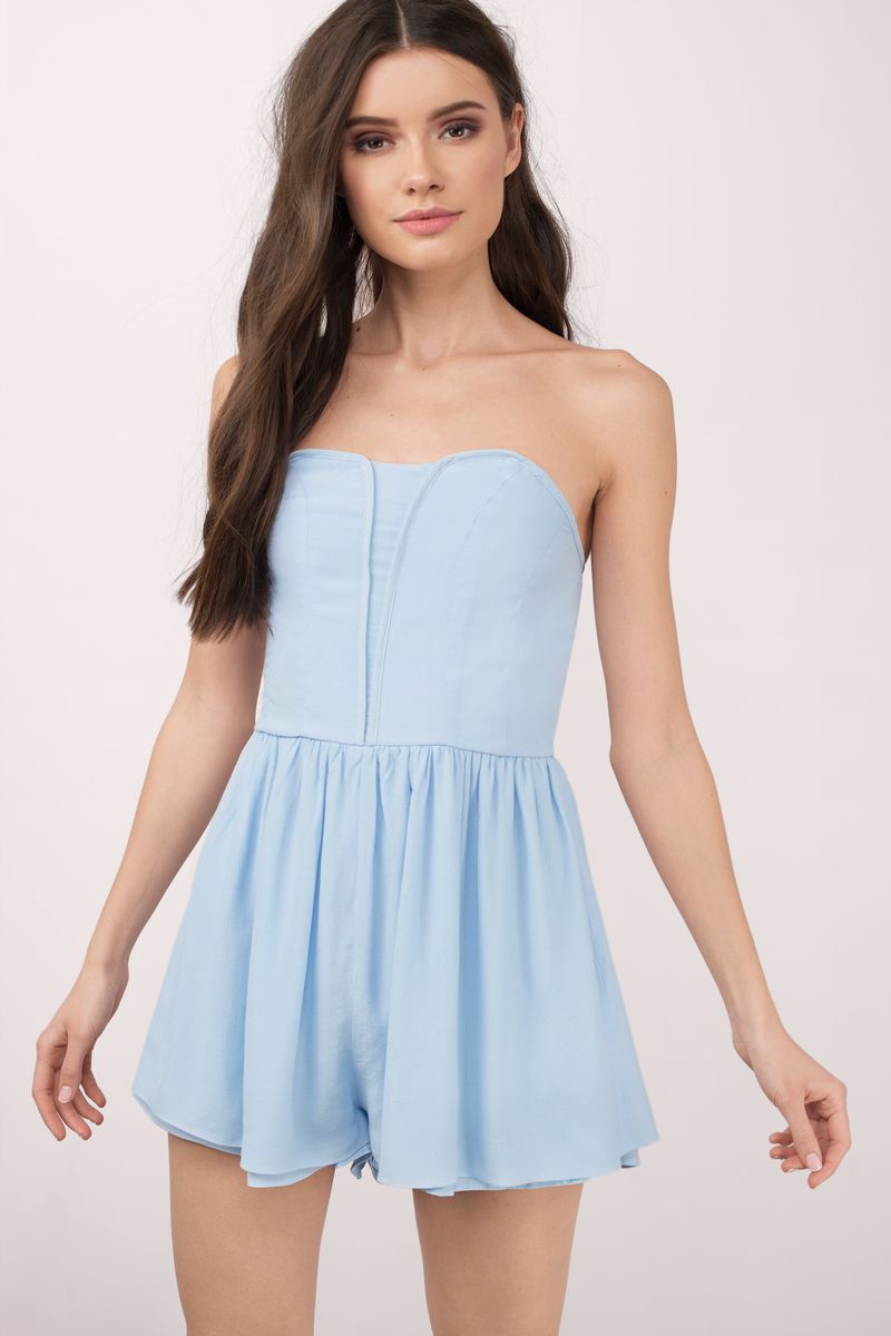 Genie Light Blue Romper