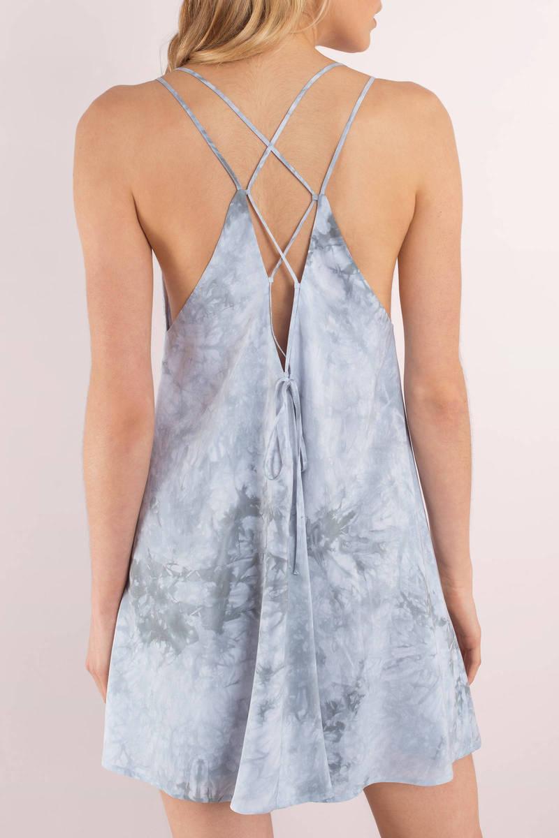 Lucky Light Blue Tie Dye Dress