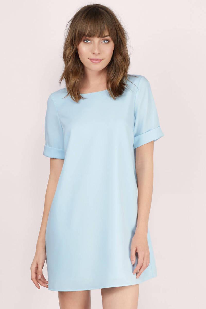 0cf2560a907 Short Sleeve Light Blue Dress - Photo Dress Wallpaper HD AOrg