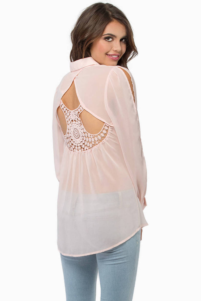 Eyelet You Back Blouse