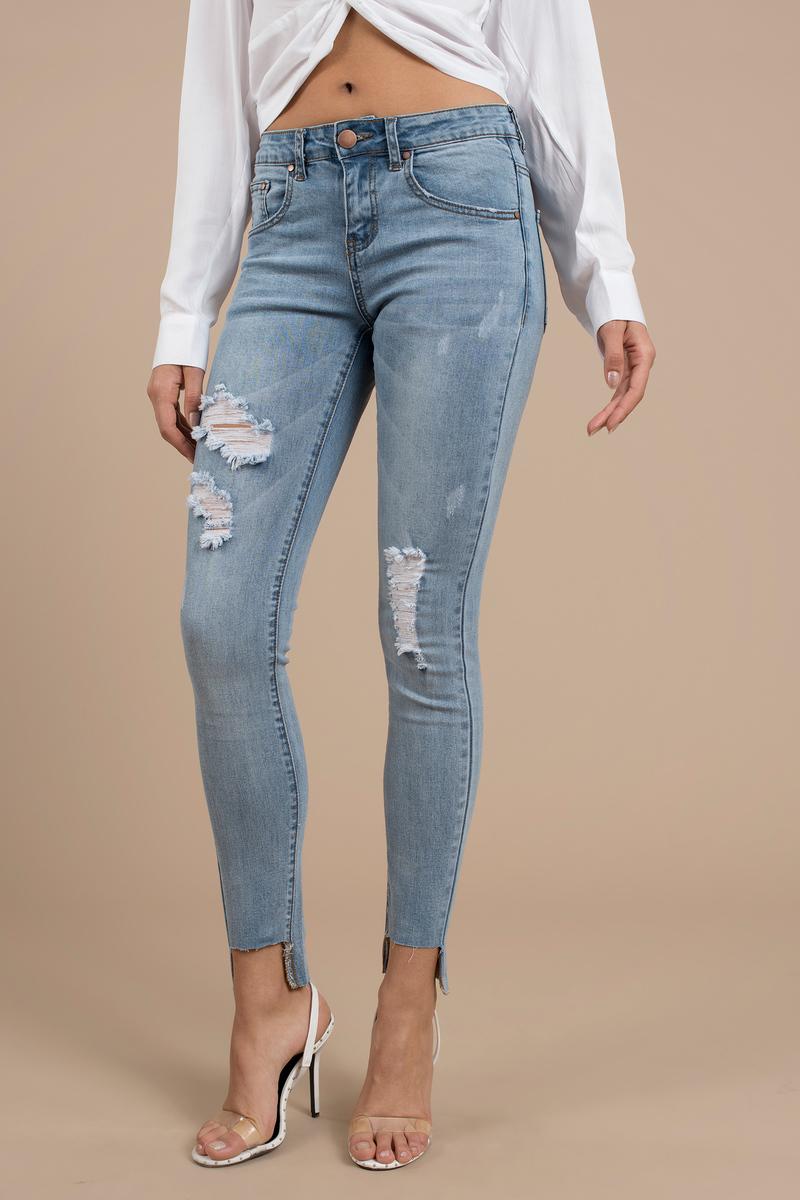 ecf9c0a8 Blue Jeans - Tight Mid Rise Jeans - Blue Light Wash Jeans - $20 ...