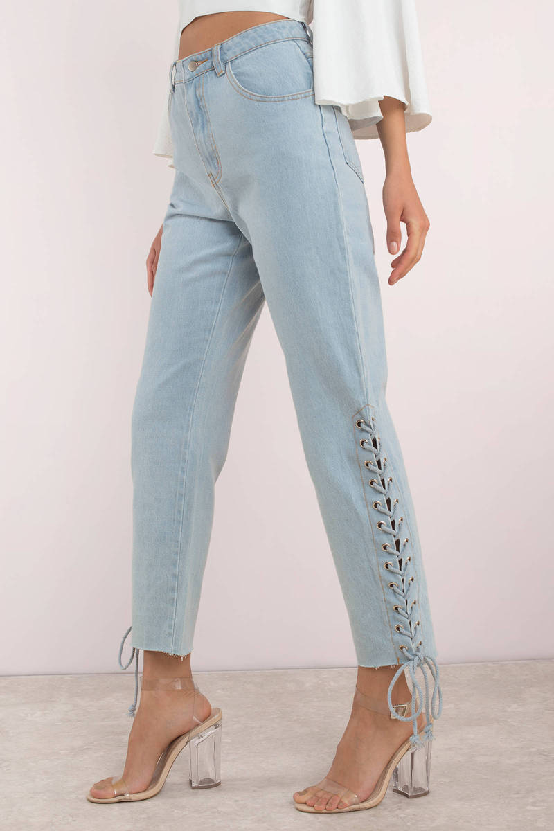 Lace and Denim Jeans