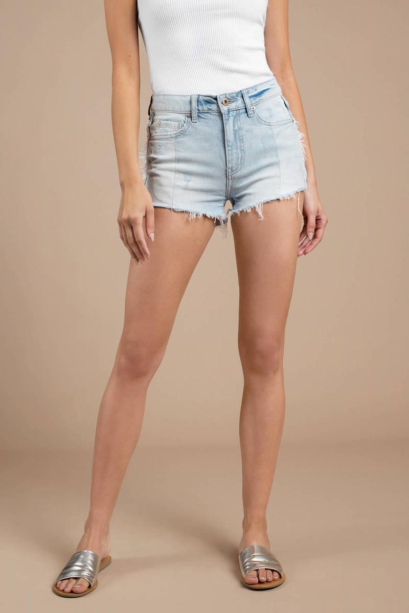 Winnie Two Tone Denim Shorts