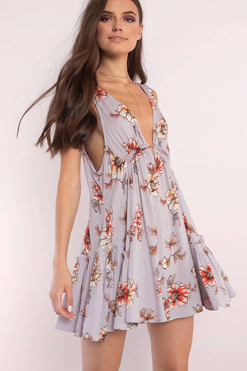 Bella Lilac Swing Dress