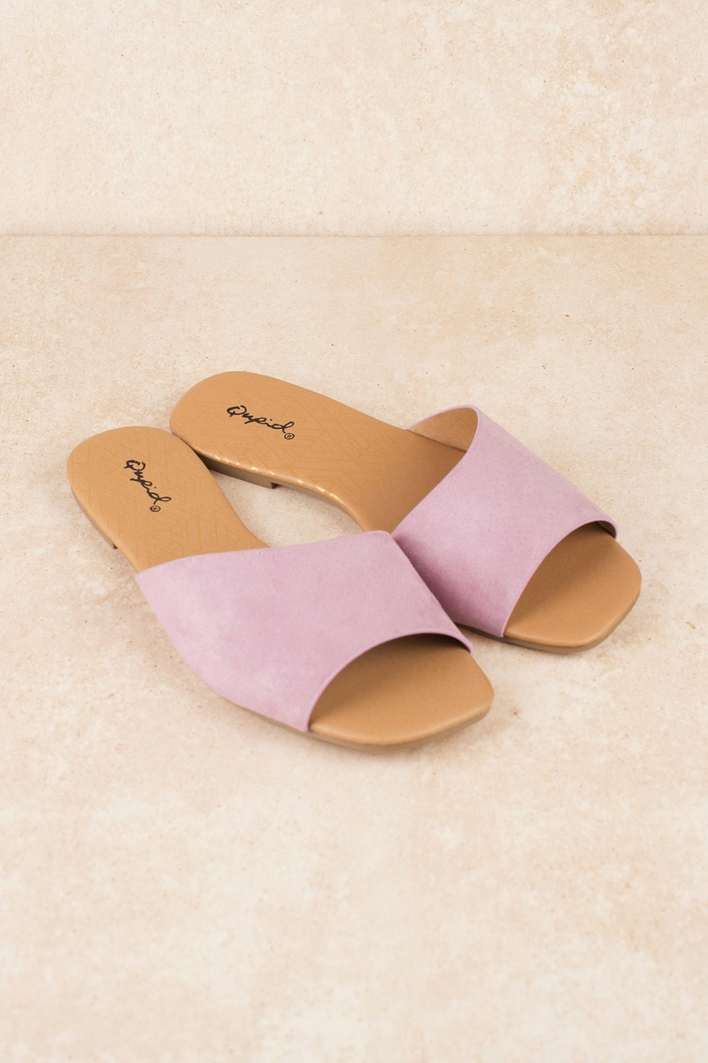 b16d100bc Cute Purple Sandals - Flat Slides - Purple Vegan Sandals -  20