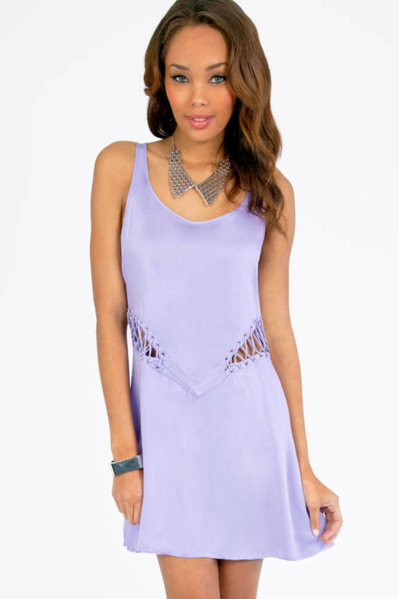 Stylestalker Dimension Lace Up Dress