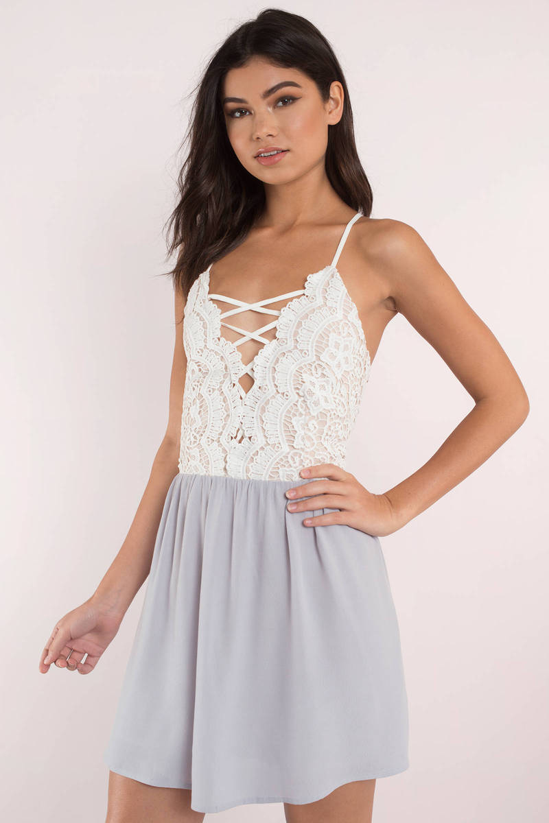 Kill Em With Kindness Lilac Lace Skater Dress