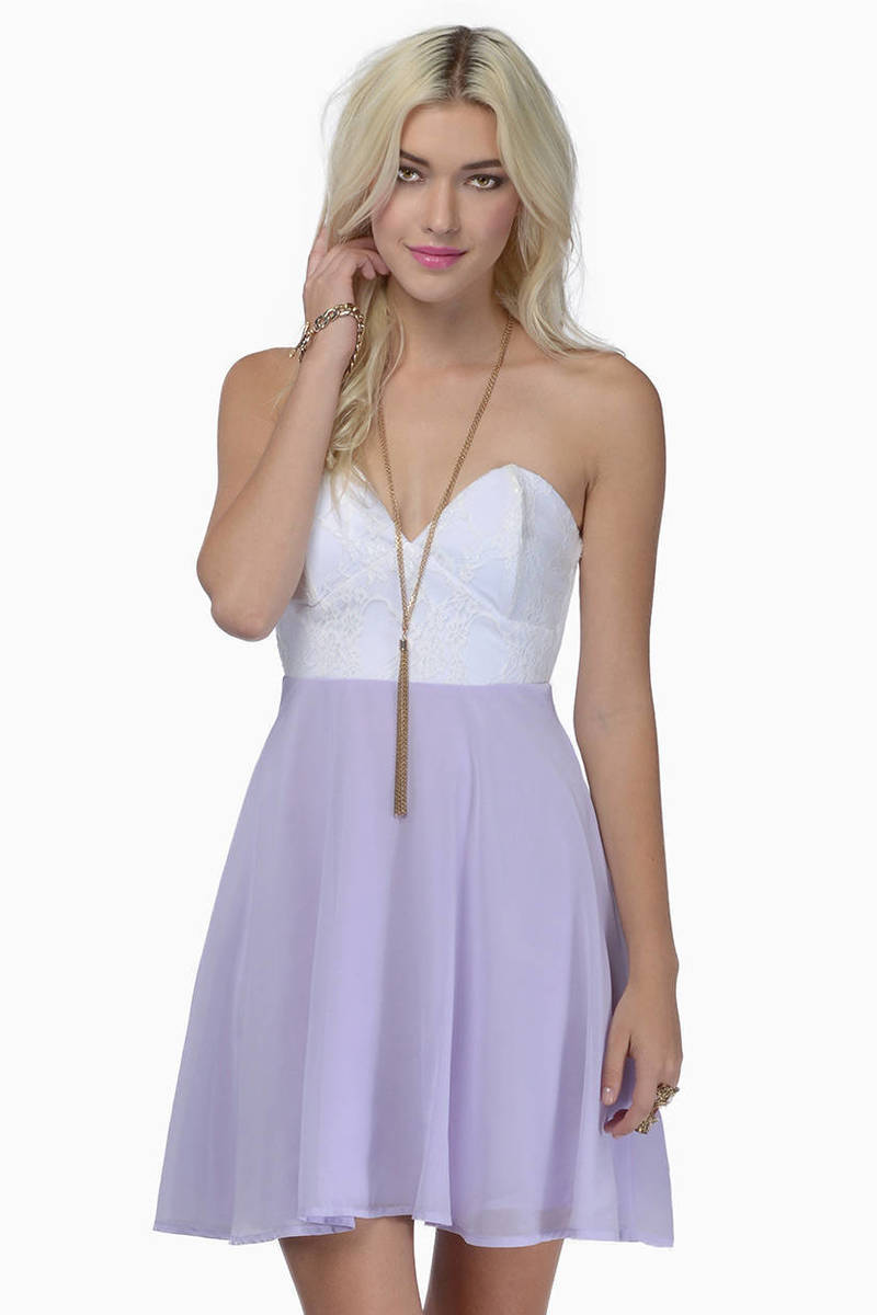 Tia Strapless Dress - $26.00  Tobi
