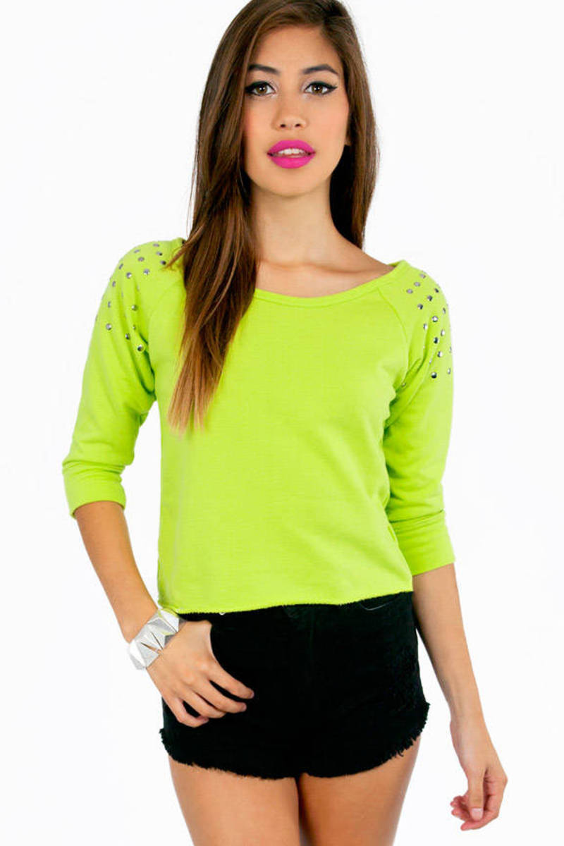 Color My World Lime Sweatshirt