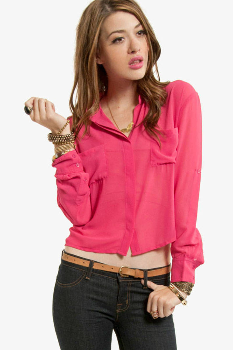 Right Behind You Pocket Blouse