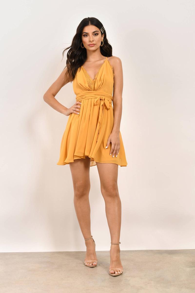 Jada Lace Chiffon Dress