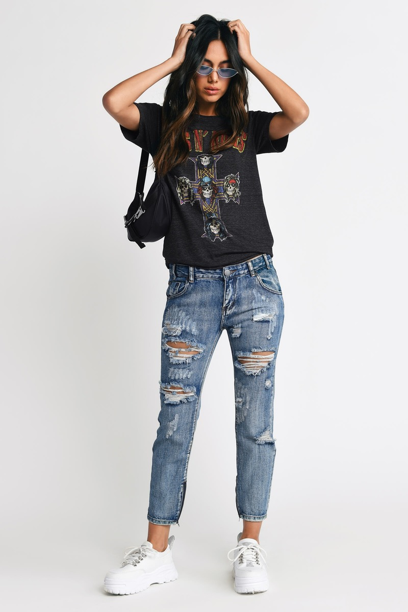 Trendy Marina Denim Jeans Distressed Jeans Marina