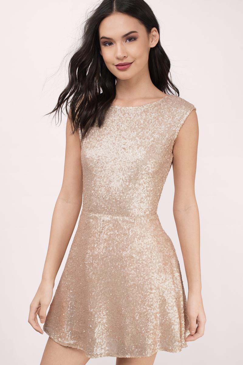 Vina White Skater Dress