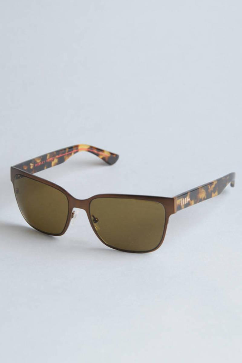 406c852426 Mosley Tribes Flynn Sunglasses in Matte Dark Tortoise Brown