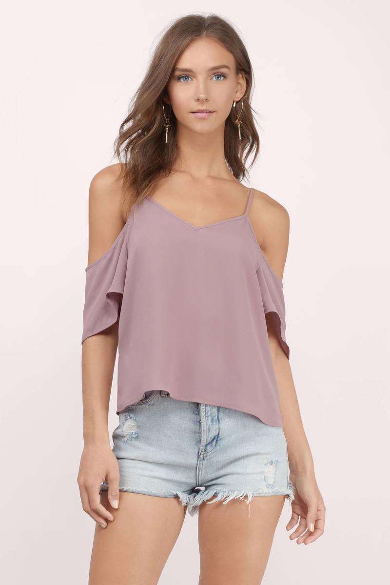 cute mauve blouse cold shoulder blouse mauve blouse. Black Bedroom Furniture Sets. Home Design Ideas