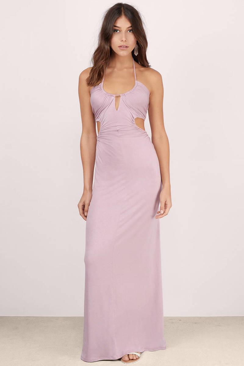 Sexy maxi dress cut out dress mauve dress mauve for Summer maxi dresses weddings