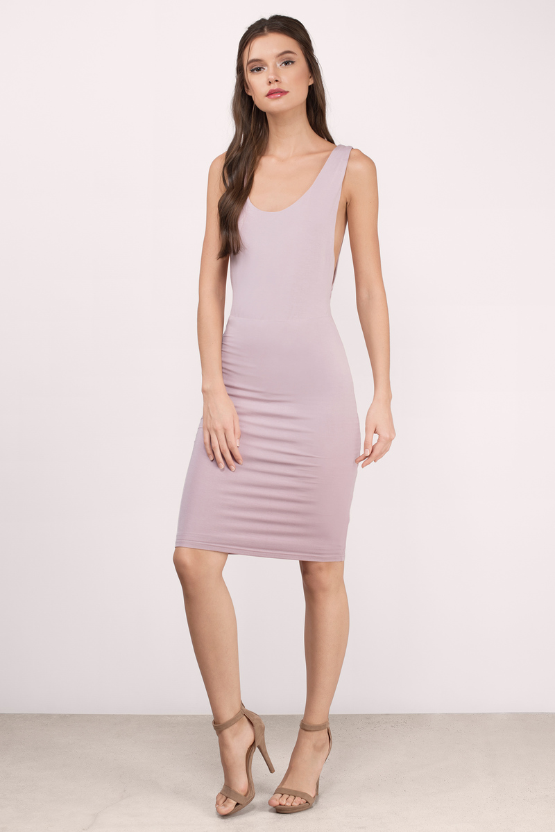 94c89148122b Trendy Mauve Midi Dress - Purple Dress - Tank Dress - Midi Dress ...