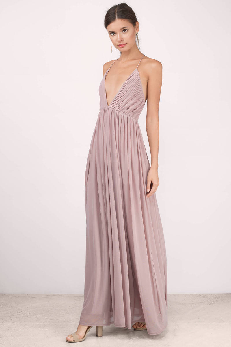 Deep v maxi dress chiffon