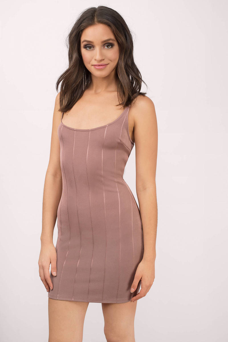 Look At Me Mauve Bodycon Dress