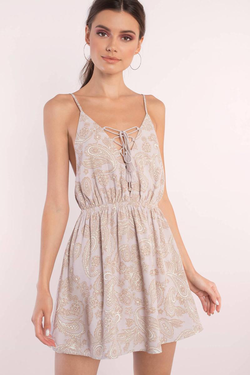 Amber Mauve Multi Paisley Print Dress