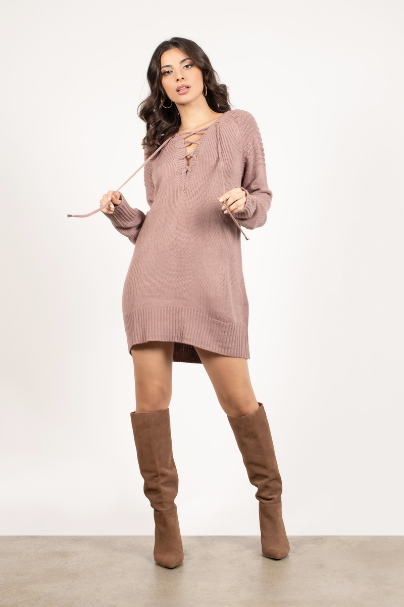Sweater Up34 Dress Casual Purple Lace DH2IeW9YE