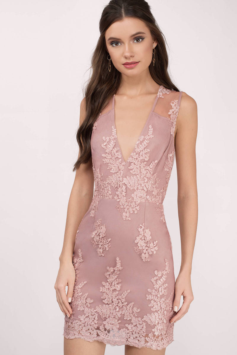 One Night Mauve Bodycon Dress