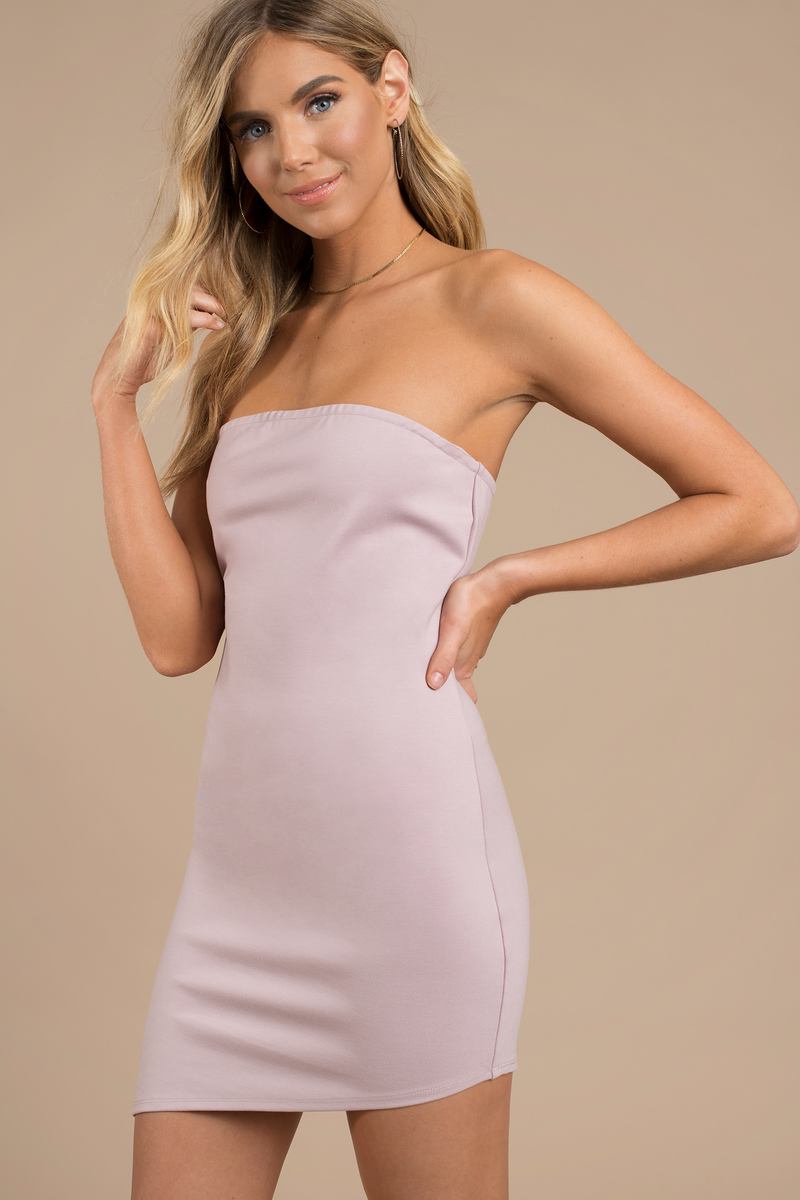 bcb4a1240 Purple Bodycon Dress - Tube Dress - Purple Strapless Dress - $15 ...