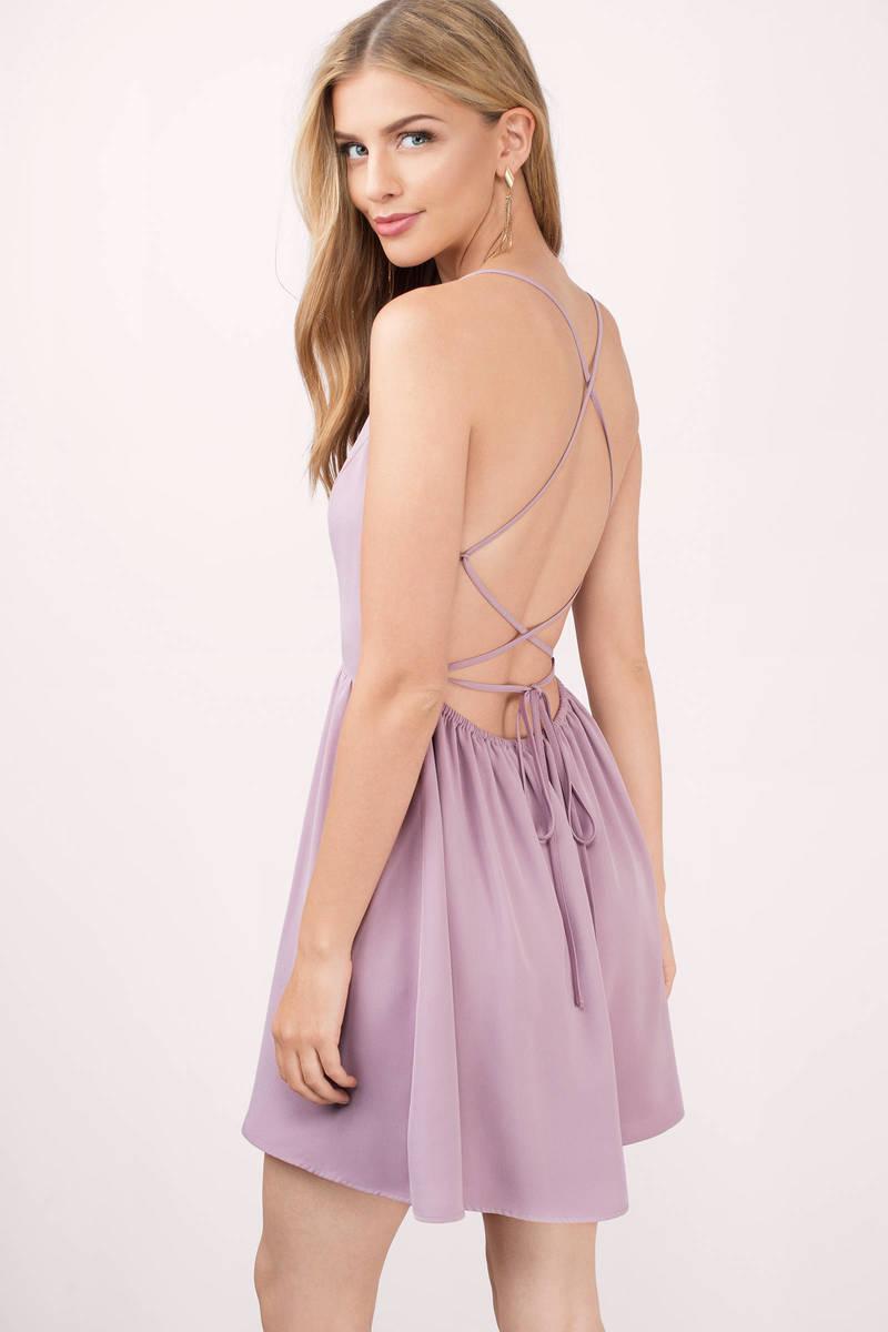 Sonya Mauve Skater Dress