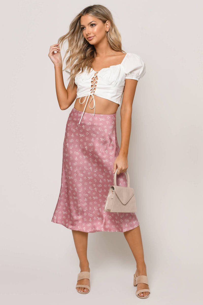 74a59ae041 Walk Away Floral Midi Skirt