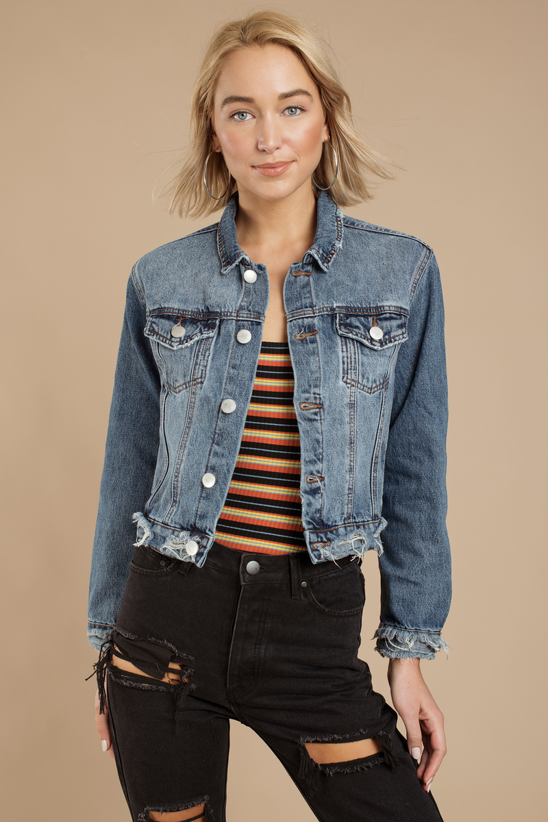 hot product meet latest sale Rosemead Cropped Denim Jacket