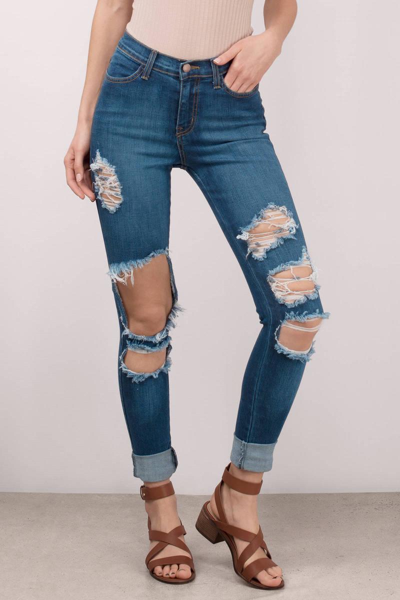 Dani Medium Wash Distressed Skinny Jeans