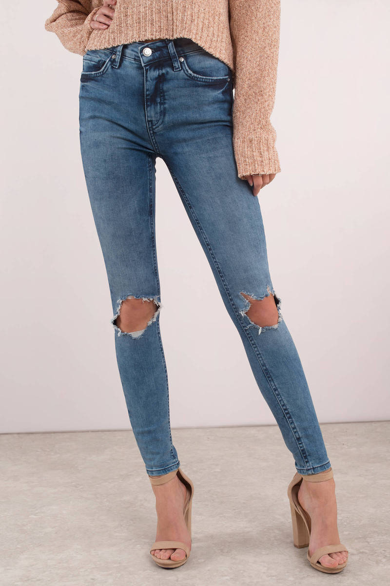 reliable quality latest fashion online shop High Rise Busted Skinny Jeans