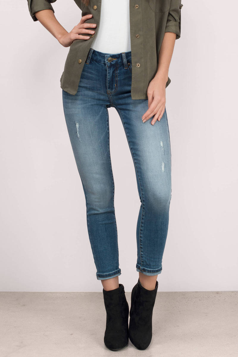 Jackie Medium Wash  Denim Skinny Jeans