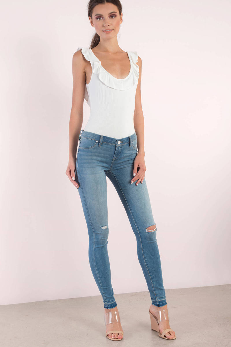 Blank NYC Puppy Love Distressed Skinny Jeans