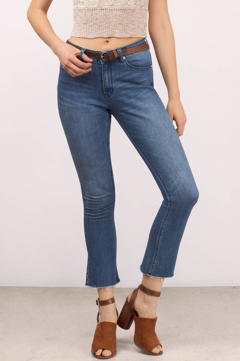 RES Denim Those Days Medium Wash Cropped Flare Jeans