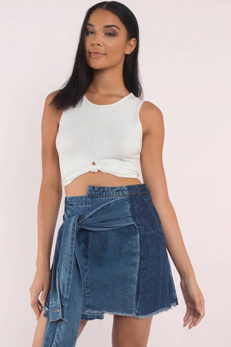 Wrap Around Me Denim Skirt