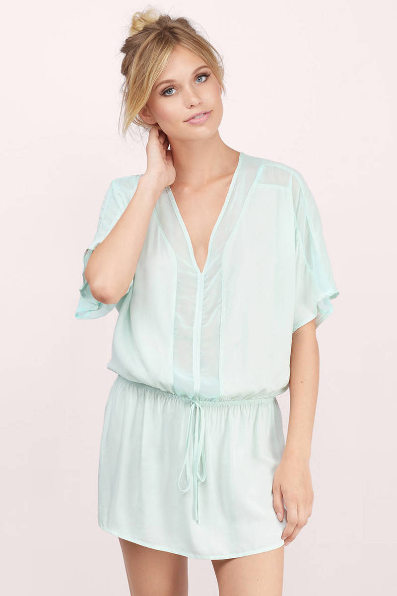 Around About Mint Shift Dress