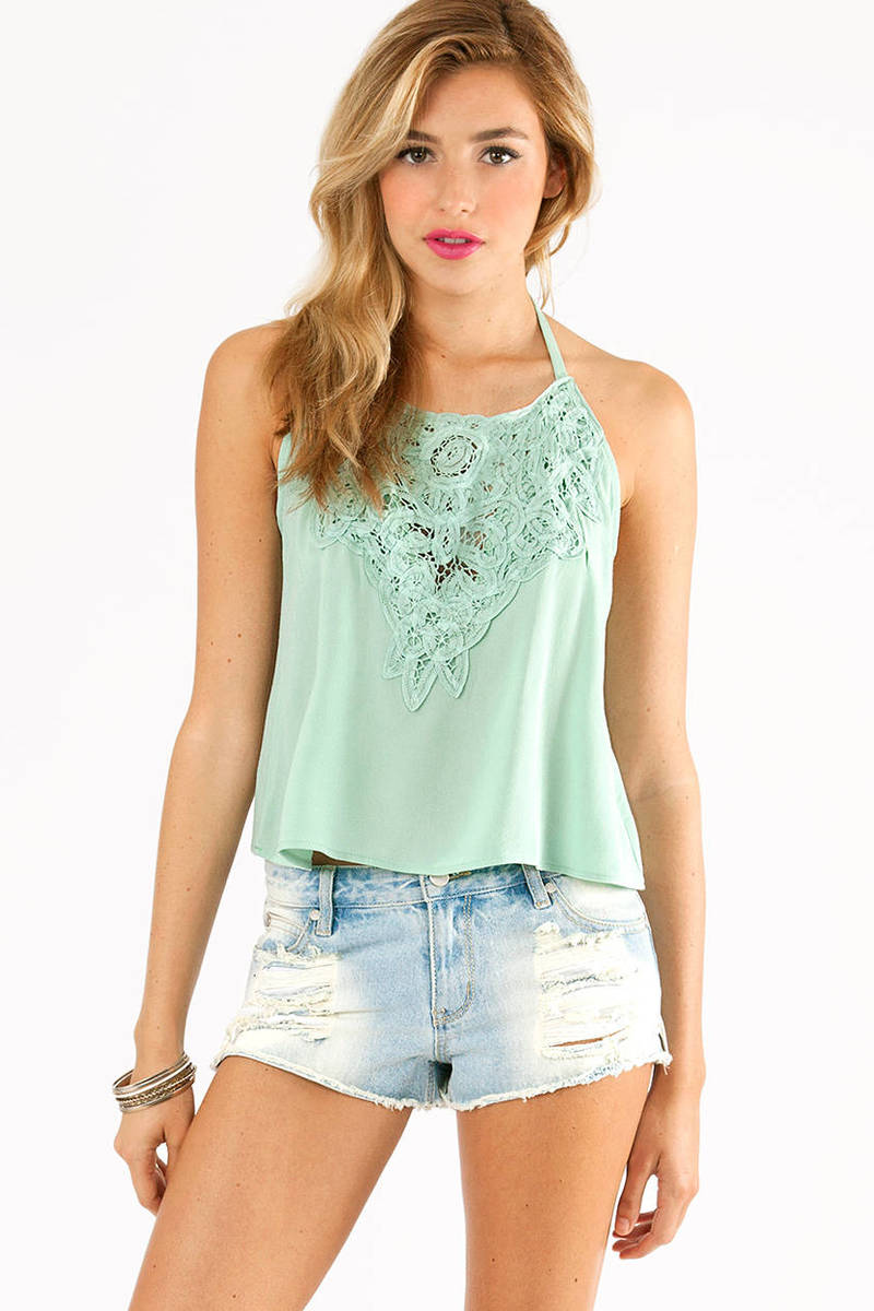 Center Of Attention Halter Top