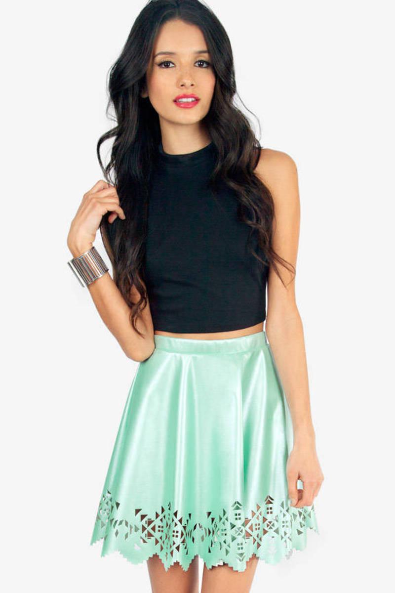 Cut It Out Skater Skirt