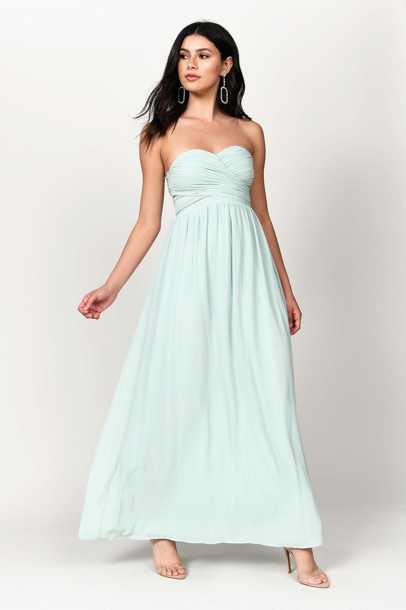 11852708e5dc Go Glam Mint Strapless Maxi Dress - $43 | Tobi US