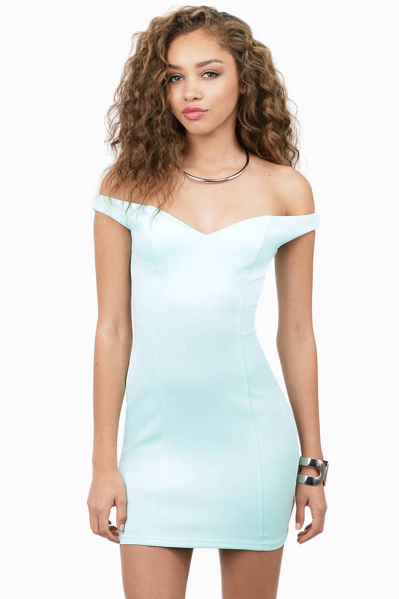 6e9e476a303c93 Mint Bodycon Dress - Green Dress - Sweetheart Dress -  10
