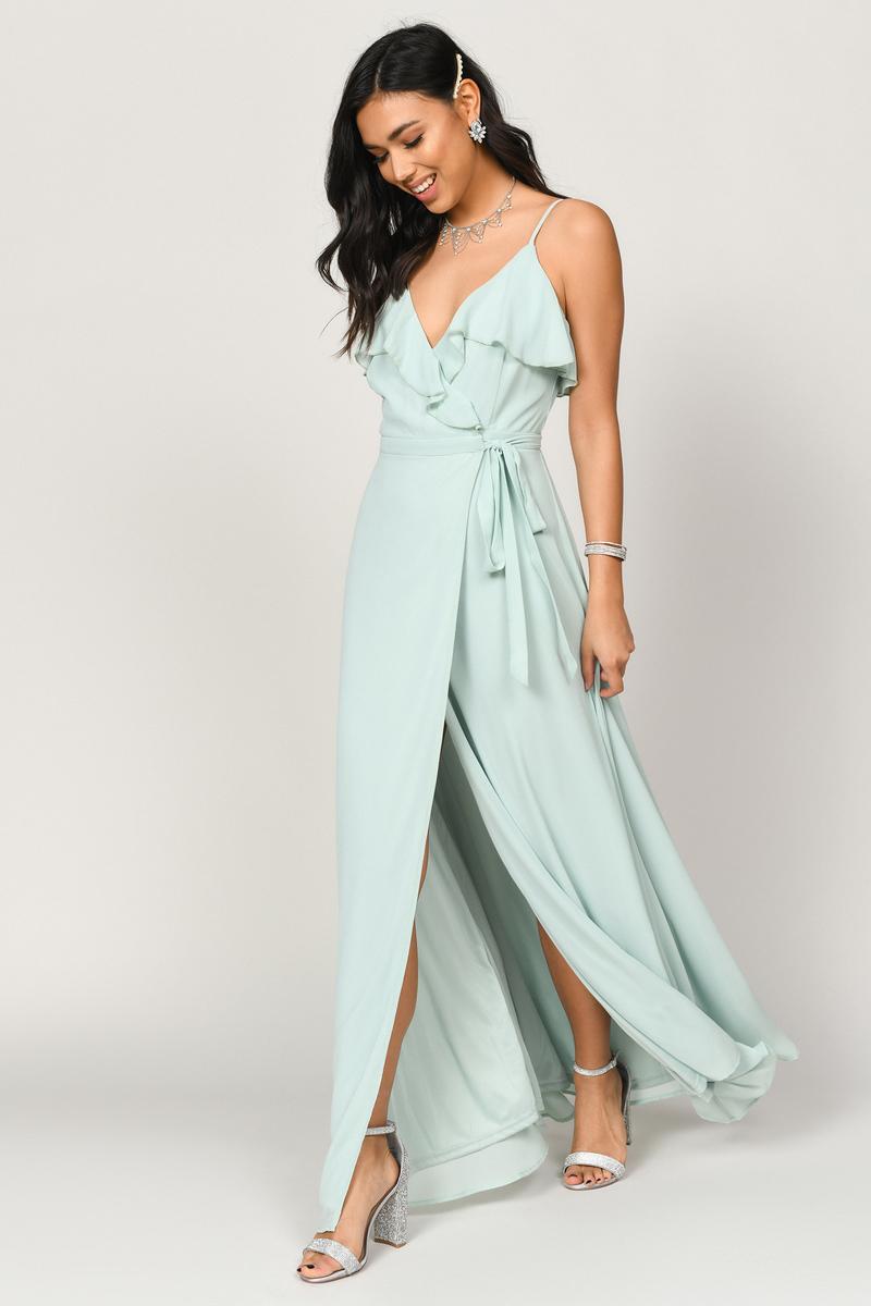 71e40dd6f Kristen Mint Wrap Maxi Dress -  43