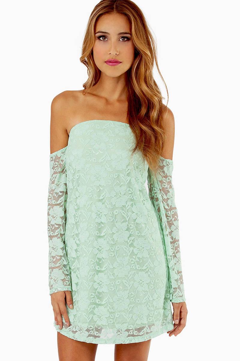 Lace Off My Shoulder Dress