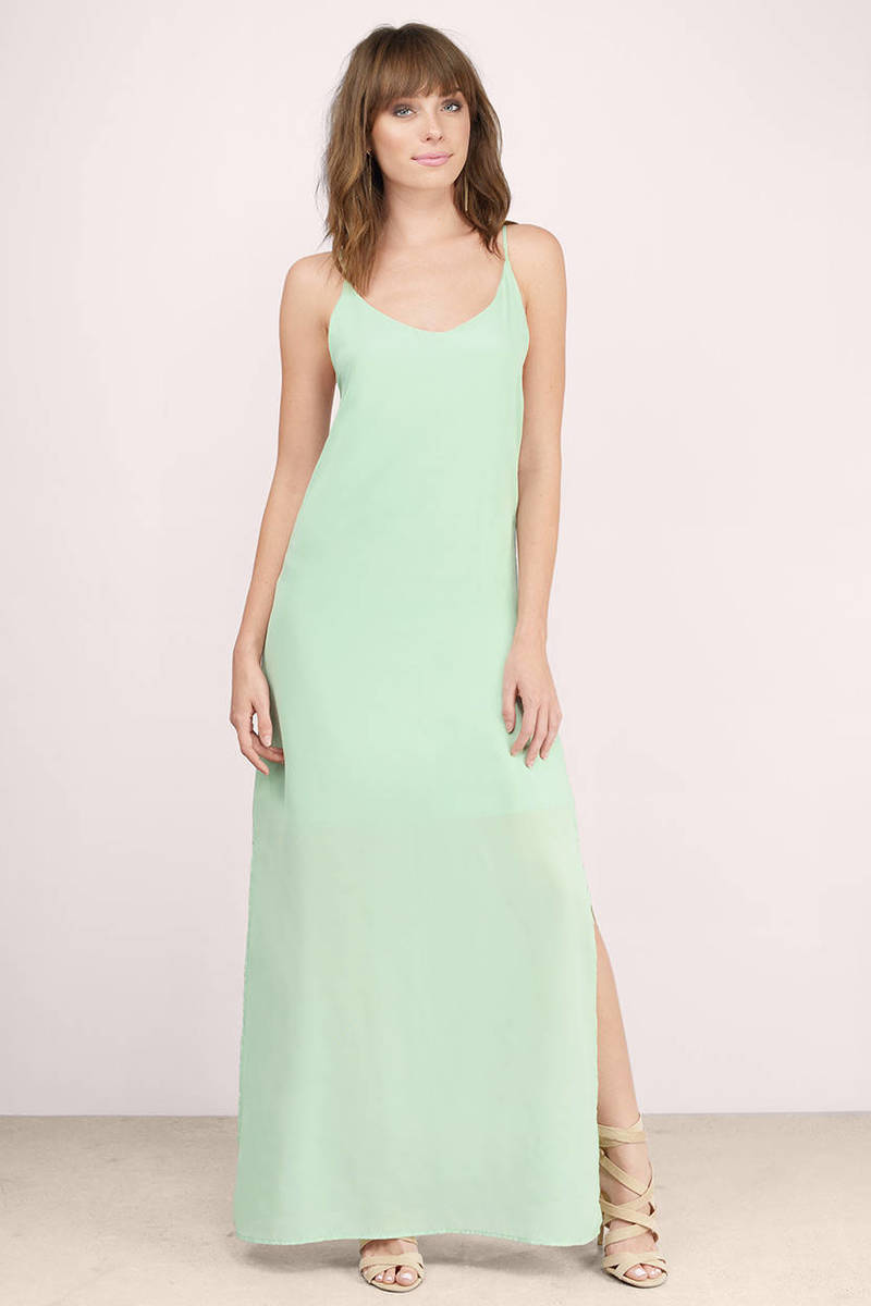 Pastel color maxi dresses