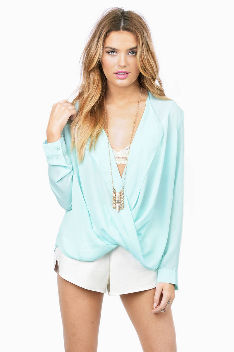 Misty Haze Mint Blouse