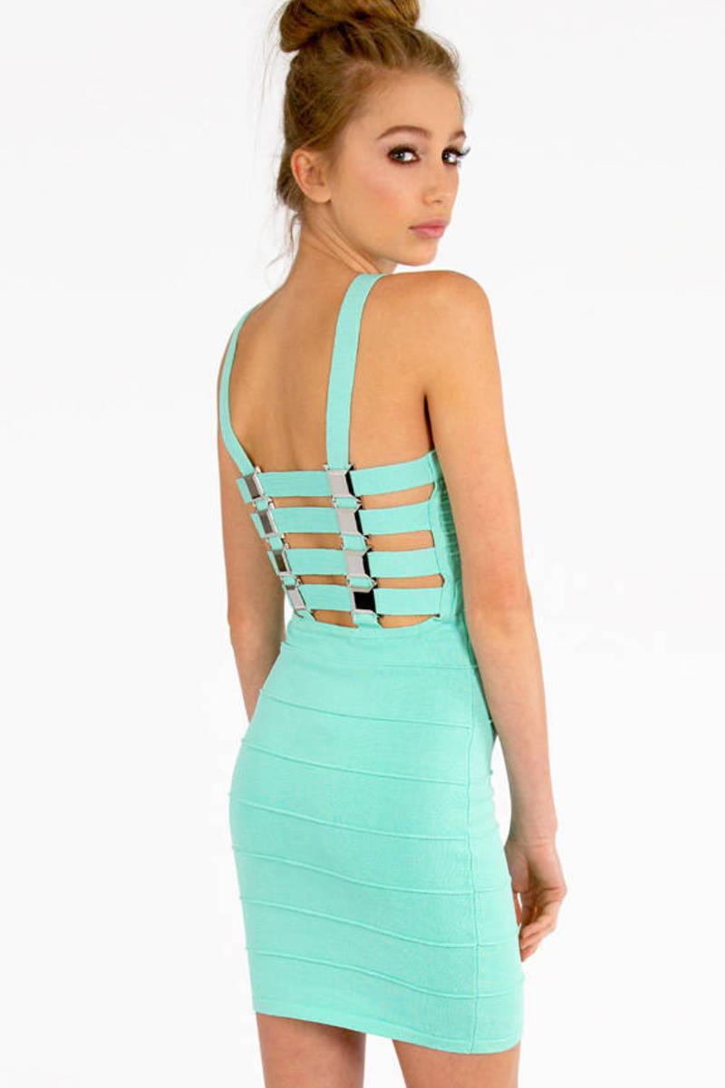 Octometal Lattice Bandage Dress
